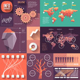 Infographics of flat design with long shadows Royalty Free Stock Photos