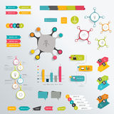 Infographics flat elements. Royalty Free Stock Image