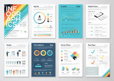 Infographics flyer and brochure elements for business Royalty Free Stock Photo