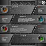 Infographics foncé 5 Photos stock