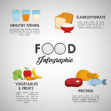 Infographics food design, vector illustration Royalty Free Stock Photography