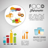 Infographics food design, vector illustration Royalty Free Stock Images
