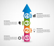 Infographics in the form of arrows. Stock Photography