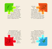 Infographics - four options with puzzle pieces Stock Photo