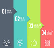 Infographics - Four Steps Stock Photography