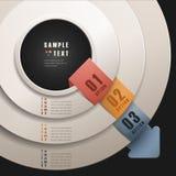 Infographics för cirkel 3d för vektor abstrakt Arkivfoto