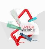 Infographics frais coloré d'autocollant Images stock