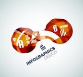 Infographics frais moderne d'affaires de vague Photo stock