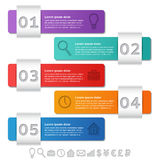 Infographics frames. Vector infographic arrows templates 5 optio Stock Photo