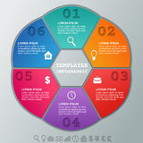 Infographics frames. Vector infographic circular templates 6 steps. Infographics frames. Circular frame infographic. Vector graphics elements. Templates for Stock Images