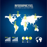 Infographics fuel. Over blue background vector illustration Royalty Free Stock Images