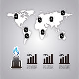 Infographics fuel Stock Images