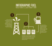 Infographics fuel. Over green background vector illustration Stock Photo