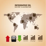Infographics fuel Royalty Free Stock Photography