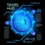 Infographics futurista da relação, HUD, fundo do vetor ilustração royalty free