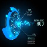 Infographics futuriste d'interface, HUD, fond de vecteur illustration libre de droits