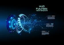 Infographics futuristico dell'interfaccia, HUD, fondo di vettore Fotografie Stock