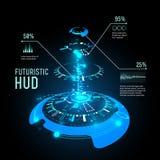 Infographics futuristico dell'interfaccia, HUD, fondo di vettore illustrazione di stock