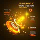 Infographics futuristico dell'interfaccia, HUD, fondo di vettore di tecnologia Immagini Stock