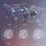 Infographics futuristico di HUD Fotografie Stock