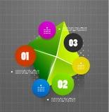 Infographics geometrical steps option banner Stock Photography