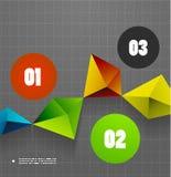 Infographics geometrical steps option banner Stock Photos