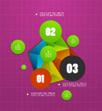 Infographics geometrical steps option banner Royalty Free Stock Photo
