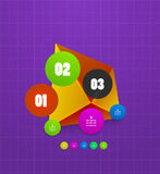 Infographics geometrical steps option banner Royalty Free Stock Photos