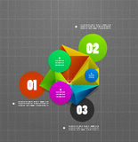 Infographics geometrical steps option banner Royalty Free Stock Images