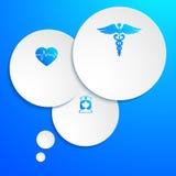 Infographics-Geschäft-Schablone-Medizin-Krankenschwester-Ikonen Lizenzfreie Stockfotos