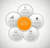 INFOGRAPHICS-Gestaltungselement-Vektorillustration Lizenzfreies Stockfoto