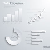 Infographics-Gestaltungselement-Vektorschablone. Stockfotografie