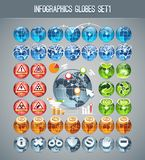 Infographics Globes Set1 Stock Image