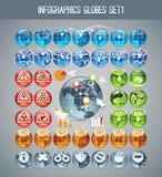 Infographics Globes Set1 Stock Image