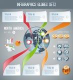 Infographics Globes Set2 Stock Image