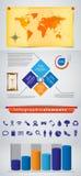 Infographics, gráficos de la información Foto de archivo libre de regalías