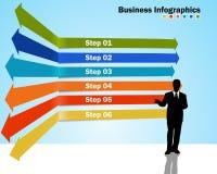 Infographics graduale con crescita di affari illustrazione vettoriale