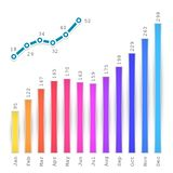 Infographics Graph Royalty Free Stock Image