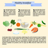Infographics healthy breakfast tamplate Royalty Free Stock Images