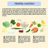 Infographics healthy nutrition tamplate Royalty Free Stock Images