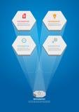 Infographics-Hexa-4_Template Immagine Stock