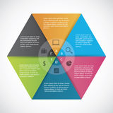 Infographics  hexagon paper. NnShadow are made with transparency set to Multiply Royalty Free Stock Images