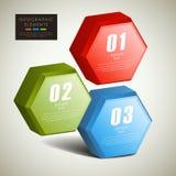 Infographics hexagonal abstracto de las columnas 3d Foto de archivo libre de regalías