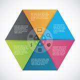 Infographics-Hexagonpapier lizenzfreie stockbilder