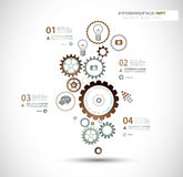 Infographics and High Tech background for business Stock Images