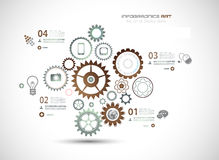 Infographics and High Tech background for business. Purposes like presentation covers or technology related posters Royalty Free Stock Images