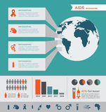 Infographics HIV και του AIDS Παγκόσμια Ημέρα κατά του AIDS διανυσματική απεικόνιση