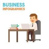 Infographics - homem de negócio Imagem de Stock Royalty Free