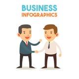 Infographics - homem de negócio Imagens de Stock Royalty Free