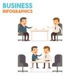 Infographics - homem de negócio Imagens de Stock